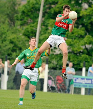 Ronan McGarrity soars into the air