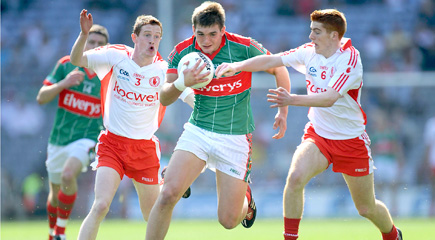 Aidan O'Shea in action against Tyrone