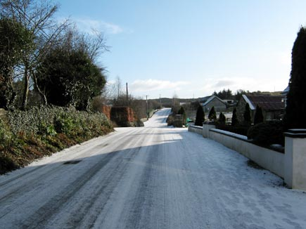 A frozen road at Carrabawn, Westport