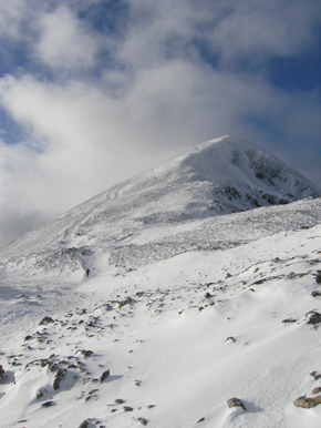 Croagh Patrick during the Big Freeze