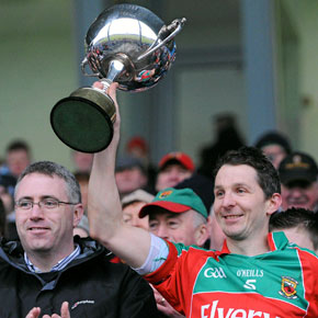 Peadar Gardiner with the Cup