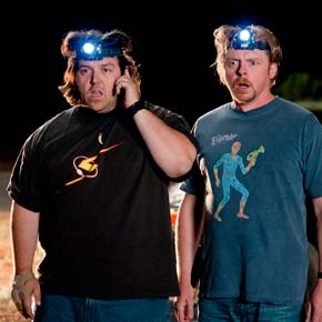 Nick Frost and Simon Pegg star in 'Paul'.