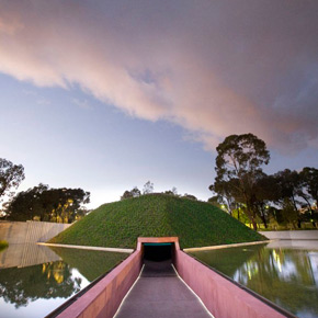 James Turrell's 2010 outdoor work 'Within Without' at the National Gallery of Australia in Canberra.