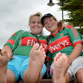 Teresa and Mary McDonagh from Castlebar who climbed seven days in a row, doing the seventh day barefoot.