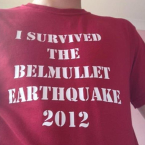 T-shirts like this one were pictured on Facebook the day after the Belmullet Earthquake.