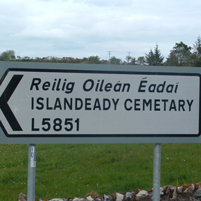 Signs directing people to Islandeady Cemetery were spelt wrong when erected last week.