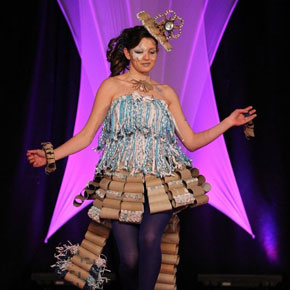 Students from Moyne College, Ballina, reached the grand final of national fashion competiton Junk Kouture last year with their creation, 'Flushed'.