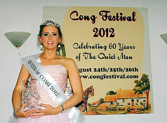 Aoibhín Flanagan is pictured after winning the inaugural Cong 'Festival Queen' competition last Friday night.