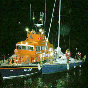 Dolphins damage yacht off Achill
