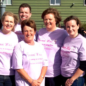 The members of the Ballinrobe Musical Society who have lent their voices to the fundraising record.