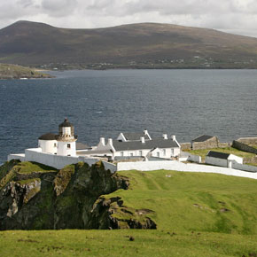 The spectacular and historic lighthouse on Clare Island, which was built in 1808.