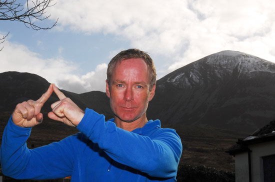 The late Ian McKeever was very much at home on the slopes of Croagh Patrick
