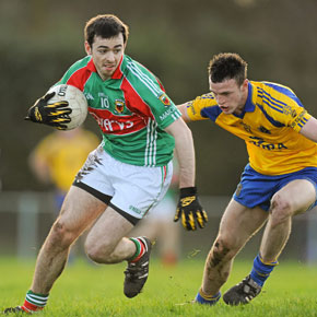 Kevin McLoughlin made his first appearance of the new season for Mayo against Roscommon in the FBD Connacht League in Ballyhaunis on Sunday.