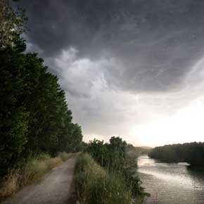Dark clouds loomed for much of Paul O'Brien's first ten days on the Camino Way.