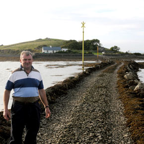 Tommy Keane fears for the future of his farm on Islandtaggert.