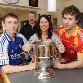 Brothers Tommy (left) and Eoghan O'Reilly will line out on opposing sides in Sunday's Mayo Senior Football Championship Final between neighbours Castlebar Mitchels and Breaffy. Their parents Maeve and Tom give us their thoughts on a day of mixed emotions for the family as the battle for the Moclair Cup hots up.