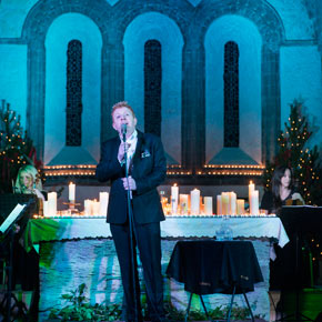 Singer Tommy Fleming was full of seasonal songs as he played the second of two sell-out  shows in the intimate surrounding of Ballintubber Abbey on Thursday evening.