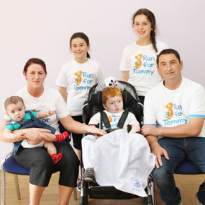 Tommy O'Donnell is pictued with his parents Dennis and Michelle O'Donnell and his sisters Megan, Katelyn and Shauna O'Donnell.