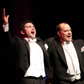 Tenors Séan Costello and Frank Naughton will perform a fundraising concert in Ballinrobe this Friday, March 20.