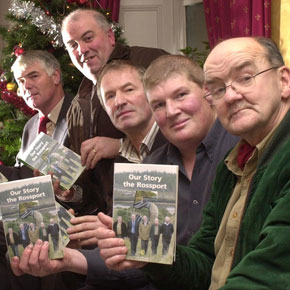 Pictured at the launch of their book, 'Our Story' at Christmas in 2006, were the Rossport Five, from left: Brendan Philbin, Willie Corduff, Vincent McGrath, Philip McGrath and Micheal Ó Seighin.