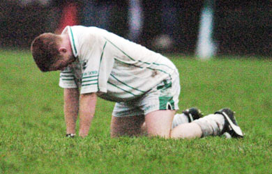 Ballaghaderreen's Gary Conway shows his emotions at the final whistle of the drawn County Final