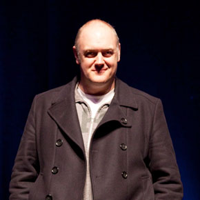 Dara O'Briain on-stage in Castlebar