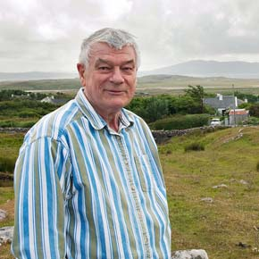 Michael Viney Author of  'Wild Mayo' at his home in Thallabawn, Louisburgh.?