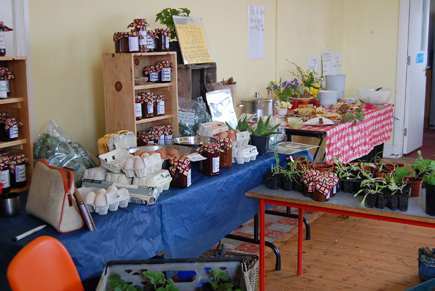 Tables full of local produce at Inver Spring Fair.