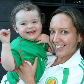 Regina Hennelly, pictured here with her niece Grace after winning medals at the European Transplant games, is delighted to have a new lease of life.