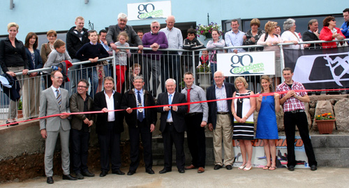 Minister of State for Tourism and Sport, Michael Ring, cut the tape to officially open the Go Explore Hostel on Clare Island.