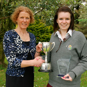 Mount St Michael Secondary School Principal, Fionnghuala King, pictured here presenting Nicole Grier with The Performing Arts Award and The Ray Leonard Memorial Cup, was severly critical of the Leaving Cert last week