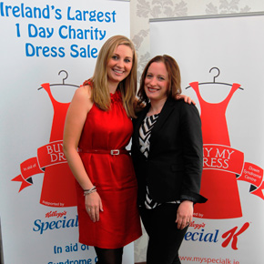Pictured at the launch of this year's Buy My Dress Mayo are TV3's Anna Daly with organiser Jenny Brennan.