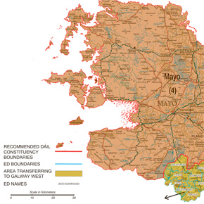 The new Mayo Constituency map