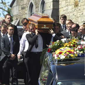 Swinford unites in grief to remember talented sports star Gary Price