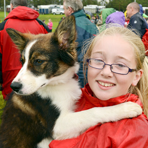 Niamh Madden from Westport and her four month old puppy, 'Jess'