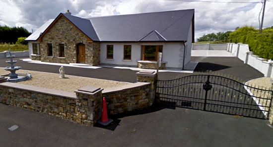 A Google street-view image of Ann and Jason Coffey's house in Ballyhowley, Knock. Judge Mary Devins was shown such an image in court where the couple were convicted of dumping rubbish in the nearby village of Knock.