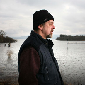 Michael Harding pictured at Lough Allen, Co Leitrim