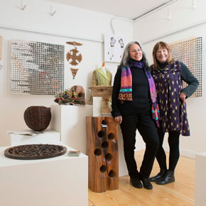 Beth Moran (right) and Victoria Foutz, who, together with Suzie Sullivan and Susan Basler, have opened the Quay Gallery, Westport.