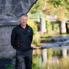 Padraig Marrey is pictured at the bottom of the Bowers Walk in Ballinrobe last week.?