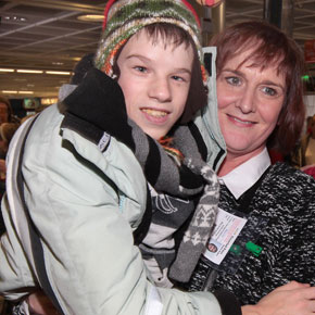y SPECIAL ARRIVAL Igor Shatikov arriving at Dublin Airport to spend Christmas with Marie Cox  and her family in Castlebar.