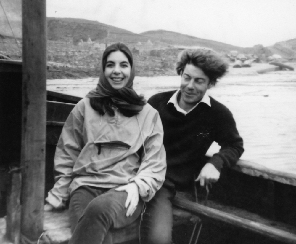 EARLY DAYS Eileen O'Mara Walsh and Owen Walsh on a ferry boat to Clare Island in 1966 during her first trip to Mayo.
